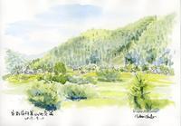 美山町長尾の風景 - 風と雲