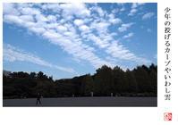 少年の投げるカーブやいわし雲 - 風と光の散歩道、有希編2a