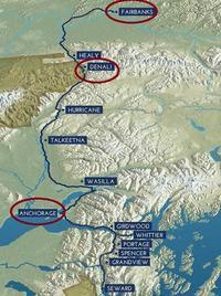 アラスカ鉄道の展望車に乗ってデナリへ - オートクチュールの旅日記