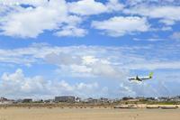 干潮の浜からB737ソラシドエア(SQ) - 飛行機の虜