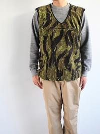 Needles SportswearWarm-Up Piping Vest - Poly Fleece / Tiger Camo Stripe - 『Bumpkins putting on airs』