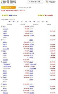 千葉県内の停電が27万3000軒もあるようです - ながいきむら議員のつぶやき(日本共産党長生村議員団ブログ)