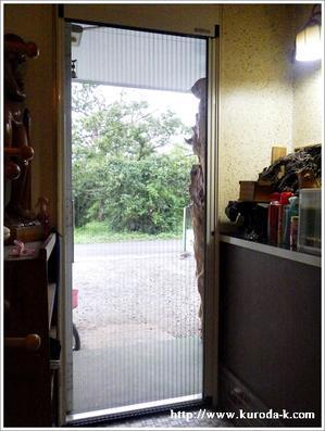 玄関ドア収納網戸『しまえるんですα』交換工事!八王子市A様邸 -