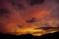夕焼け雲f5 - 雲空海