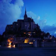 モンサンミッシェルの夜明け - カメラのまばたき