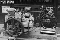 倉敷えびす通り商店街サイドカー付き自転車 - 下手糞でも楽しめりゃいいじゃんPHOTO BLOG
