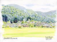 美山町北の風景 - 風と雲