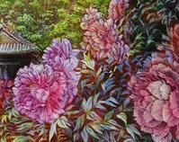 牡丹⑤ - 絵と庭