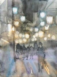 温泉街の灯り - ryuuの手習い