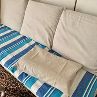 ソファーカバーと共布の枕カバー - 編み好き@amiami通信