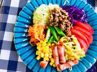 おかずサラダとミラノ風カツレツと朝ごはん! - ワタシの呑日記