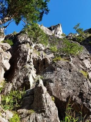 錫杖岳 前衛フェース (左方カンテ・1ルンゼ) - 信州大学山岳会ブログ Web雑人雑感