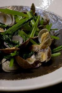 あさりと小松菜の蒸し煮 - いつもの、あれ、食べようかな