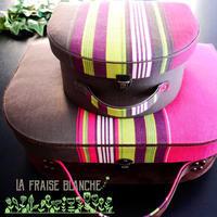 『STOF ミニトランク』 - カルトナージュ教室 & ハンドクラフト教室 ~ La fraise blanche ~ ラ・フレーズ・ブロンシュ