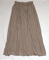 <しまむら>購入品ベージュ色サテンスカート - 肩の力を抜いて