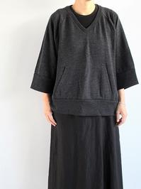 SchiesserManuelasweater v-neck / anthracite-melange - 『Bumpkins putting on airs』