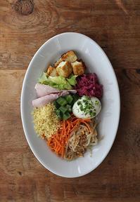 豆腐ステーキとナムル - Nasukon Pantry
