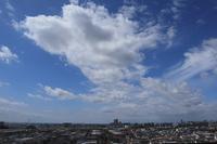 夏の名残りの雄大雲(積雲) - 日々の風景