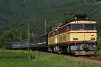 大井川鐵道 E31+E31+旧型客車 かわね路号 抜里インカーブ - 鉄路カレンダー