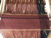 今秋の流行色で試し織り。 - 手染めと糸のワークショップ