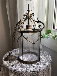 ブロンズと厚手ガラスのランプ47 - スペイン・バルセロナ・アンティーク gyu's shop