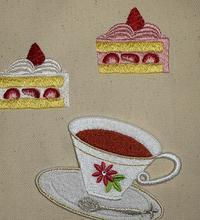 カットケーキの刺繍データイメージは完成☆ - Atelier Chou