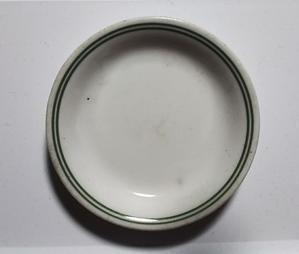 日陶製  クロム二重圏線文小皿 - やきもの 骨董 がらくた 用即美