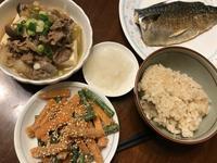 夕ごはんは 肉豆腐と鯖と胡麻和え! - よく飲むオバチャン☆本日のメニュー