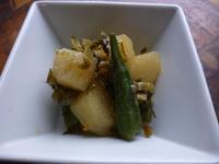冬瓜とオクラと高菜漬けの炒め煮 - LEAFLabo