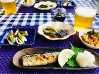 秋刀魚の塩焼きと節約仕様の副菜! - ワタシの呑日記