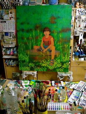 第73回 二紀展 出品作品(制作⑫)「森の吐息(モリノハクイキ)」 - スズキヨシカズ幻燈画室