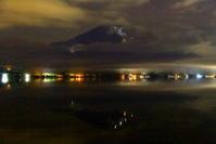 令和元年9月の富士(17)山中湖村の雲湧く夜の富士 - 富士への散歩道 ~撮影記~