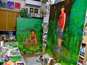 第73回 二紀展 出品作品(制作⑬)「木霊(こだま)」 - スズキヨシカズ幻燈画室