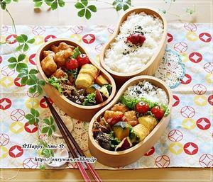 から揚げ弁当と今夜は焼きナスでおうち呑み♪ - ☆Happy time☆