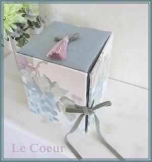 自宅レッスン アコーディオン式の箱 半円形のバスケット - Le Coeur ~カルトナージュ作品と手作り日記~