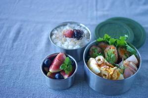 今日の豚バラ野菜巻き弁当 - sweet+