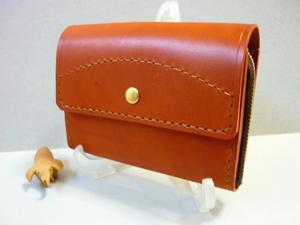 第2の財布とは!・・L字ファスナー・財布コンパクト(赤茶) -