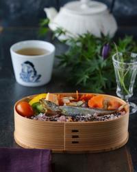 シシャモ弁当の朝ごはん - ゆきなそう  猫とガーデニングの日記