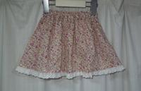 69.小花柄のスカートのリメイク - フリルの子供服