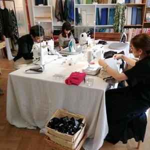 ・・・ freeing sewing  9月 ・・・ 2回目 - コラージュな日々