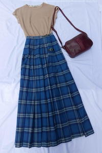 England Check skirt - carboots
