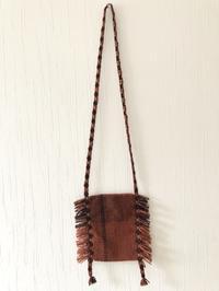 カード織りの肩紐に織り込みながらポシェットを作ってみました。 - 手染めと糸のワークショップ