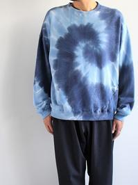 NOMA t.d.Tie Dye Twisted Sweat - Circle / Navy × Blue - 『Bumpkins putting on airs』
