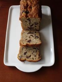 大粒チョコチップ入りバナナ・パウンド*Chocolate chip banana bread - Baking Daily@TM5