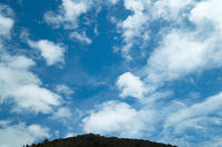 台風一過の青ゾラと朝顔 - 朽木小川より 「itiのデジカメ日記」 高島市の奥山・針畑からフォトエッセイ