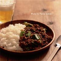 オクラのキーマカレー - ふみえ食堂  - a table to be full of happiness -