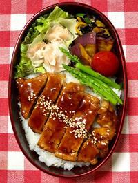 トンテキ丼★(^^♪・・・・・息子弁当 - 日だまりカフェ