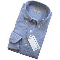 Matteucci マテウッチ ネイビーXホワイト織り柄風プリントシャツ - 下町の洋服店 krunchの日記