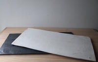 白と黒の長方形〜大皿〜 - ぼちぼち
