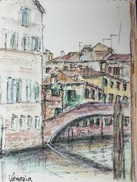 最後の  ヴェネツィア  街歩き  スケッチ - 旅と数学  それとdiy